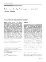 The importance of cooling of urine samples for doping analysis