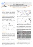 Experimental techniques for design of impact-resistant material (poster)