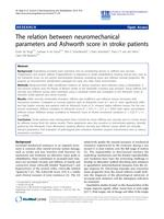 The relation between neuromechanical parameters and Ashworth score in stroke patients