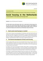 Social housing in the Netherlands: The development of the Dutch social housing model
