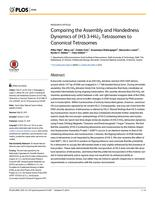 Comparing the Assembly and Handedness Dynamics of (H3.3-H4)2 Tetrasomes to Canonical Tetrasomes