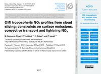 OMI tropospheric NO2 profiles from cloud slicing: Constraints on surface emissions, convective transport and lightning NOx (discussion paper)