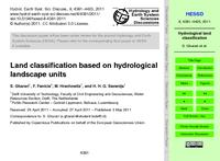 Land classification based on hydrological landscape units