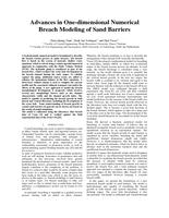 Advances in one-dimensional numerical breach modeling of sand barriers