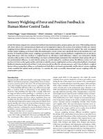 Sensory Weighting of Force and Position Feedback in Human Motor Control Tasks