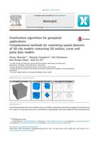 Voxelization Algorithms for Geospatial Applications: Computational methods for voxelating spatial datasets of 3D city models containing 3D surface, curve and point data models