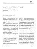 Visual force feedback in laparoscopic training