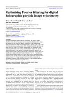 Optimizing Fourier filtering for digital holographic particle image velocimetry
