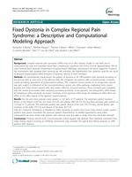 Fixed Dystonia in Complex Regional Pain Syndrome: A Descriptive and Computational Modeling Approach