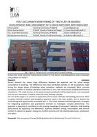 Post-occupancy monitoring of two flats in Madrid: Development and assessment of a mixed methods methodology