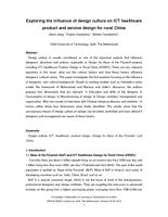 Exploring the influence of design culture on ICT healthcare product and service design for rural China