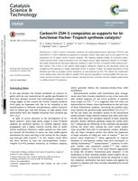 Carbon/H-ZSM-5 composites as supports for bi-functional Fischer-Tropsch synthesis catalysts