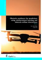 Obstacle avoidance for quadrotors using reinforcement learning and obstacle-airflow interactions