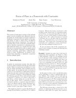 Fusion of Plans in a Framework with Constraints
