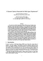 A Dynamic Systems Framework for Multi-Agent Experiments
