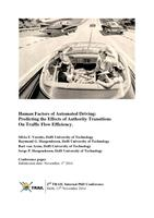 Human Factors of Automated Driving: Predicting the Effects of Authority Transitions on Traffic Flow Efficiency