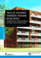 Multi-storey timber-frame building- modelling the racking stiffness of timber-frame shear-walls