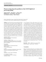 Preprocessing of gravity gradients at the GOCE high-level processing facility