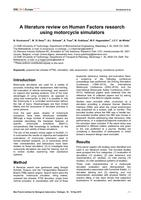 A literature review on human factors research using motorcycle simulators