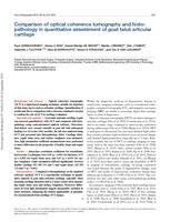 Comparison of optical coherence tomography and histopathology in quantitative assessment of goat talus articular cartilage