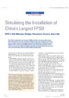 Simulating the installation of China's largest FPSO