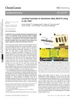 Localised corrosion in aluminium alloy 2024-T3 using in situ TEM