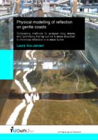 Physical modelling of reflection on gentle coasts