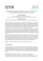 Evaluating infrastructure resilience to extreme weather – the case of the Dutch electricity transmission network