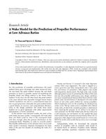 A Wake Model for the Prediction of Propeller Performance at Low Advance Ratios