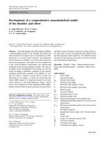 Development of a comprehensive musculoskeletal model of the shoulder and elbow