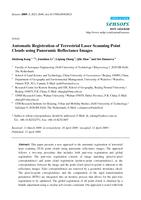 Automatic Registration of Terrestrial Laser Scanning Point Clouds using Panoramic Reflectance Images