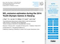 NOx emission estimates during the 2014 Youth Olympic Games in Nanjing (discussion paper)