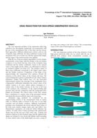 Drag reduction for high-speed underwater vehicles