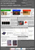A statistical model of the motion of pastels under vibration (Poster)