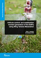 Attitude control- and stabilisation moment generation of the DelFly using Wing Tension Modulation
