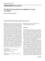 The effect of energy performance regulations on energy consumption