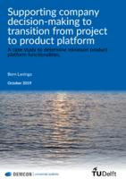 Supporting company decision-making to transition from project to product platform