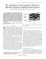 The application of the capacitor's physics to optimize capacitive angular-position sensors
