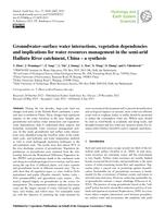 Groundwater–surface water interactions, vegetation dependencies and implications for water resources management in the semi-arid Hailiutu River catchment, China – a synthesis