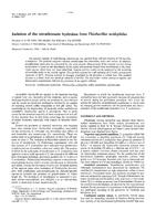 Isolation of the tetrathionate hydrolase from Thiobacillus acidophilus