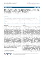 Silver-functionalized carbon nanofiber composite electrodes for ibuprofen detection