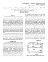 Development of measurement techniques for studying propeller erosion damage in severe wake fields