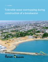 Tolerable wave overtopping during construction of a breakwater