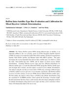 BeiDou inter-satellite-type bias evaluation and calibration for mixed receiver attitude determination