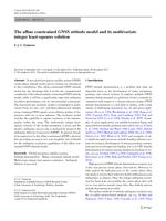 The affine constrained GNSS attitude model and its multivariate integer least-squares solution