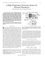A high-temperature electronic system for pressure-transducers