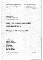 Solid fuel combustion chamber: Progress report X: Ninth phase, July-December 1986