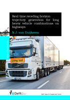 Real-time receding horizon trajectory generation for long heavy vehicle combinations on highways