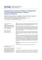 Learning from successes and failures of registration of patent applications based on physical ergonomics