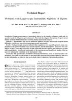 Problems with Laparoscopic Instruments: Opinions of Experts